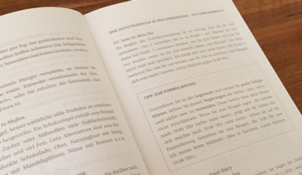 Notizbuch Ernährung Anleitung