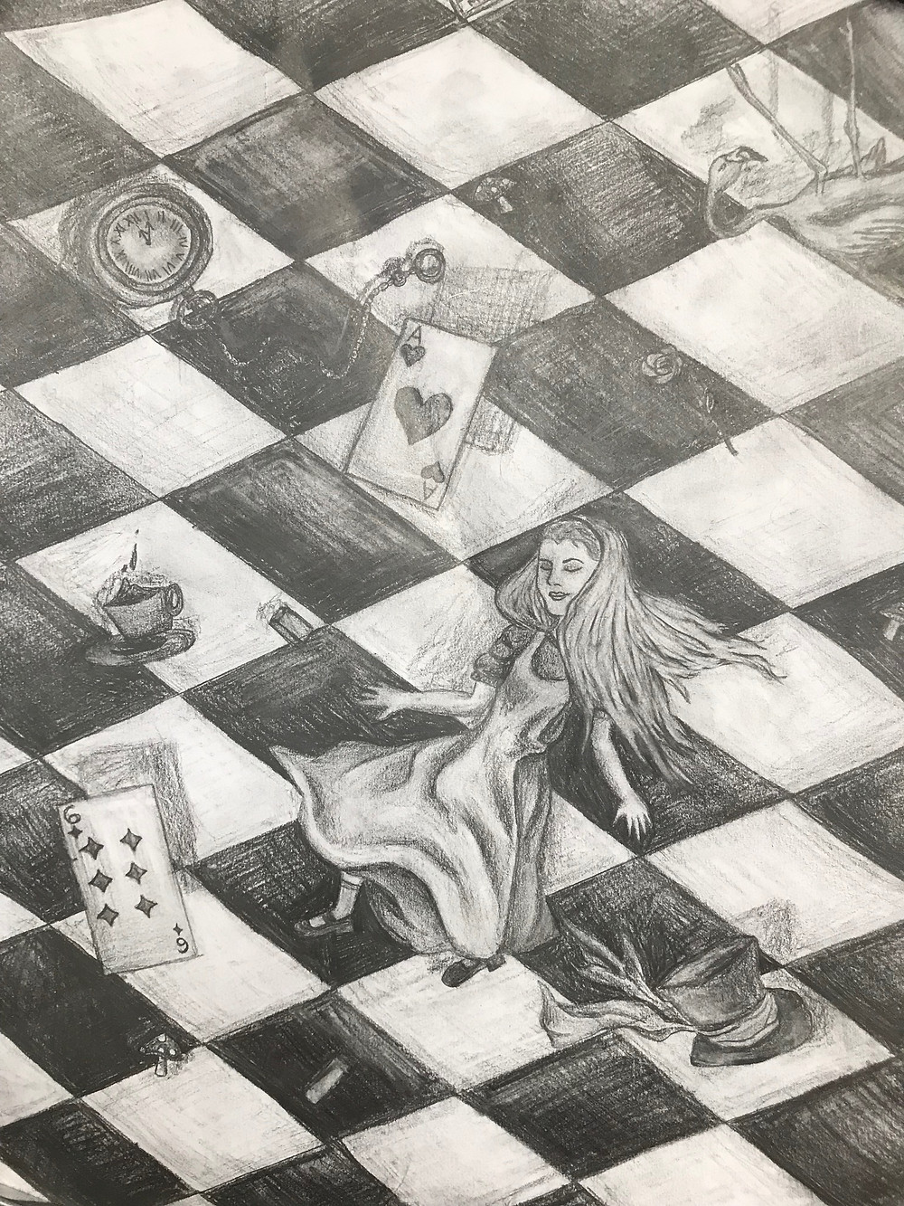 Sketch of a mural by Mia Rutkovsky