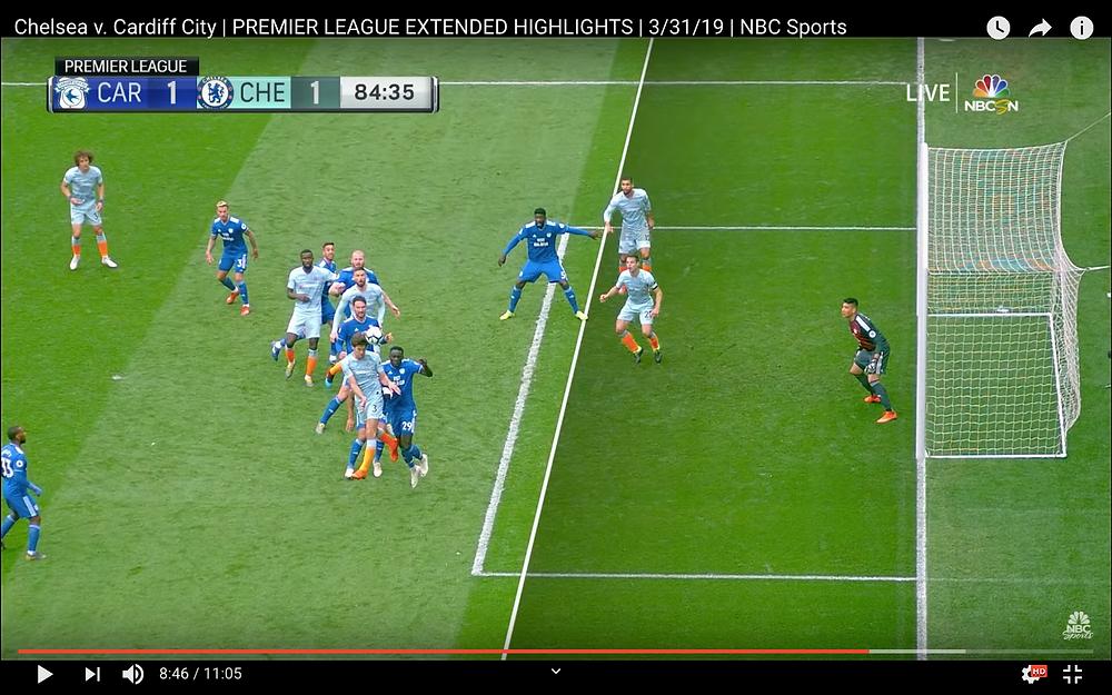 César Azpilicueta's offside goal against Cardiff City