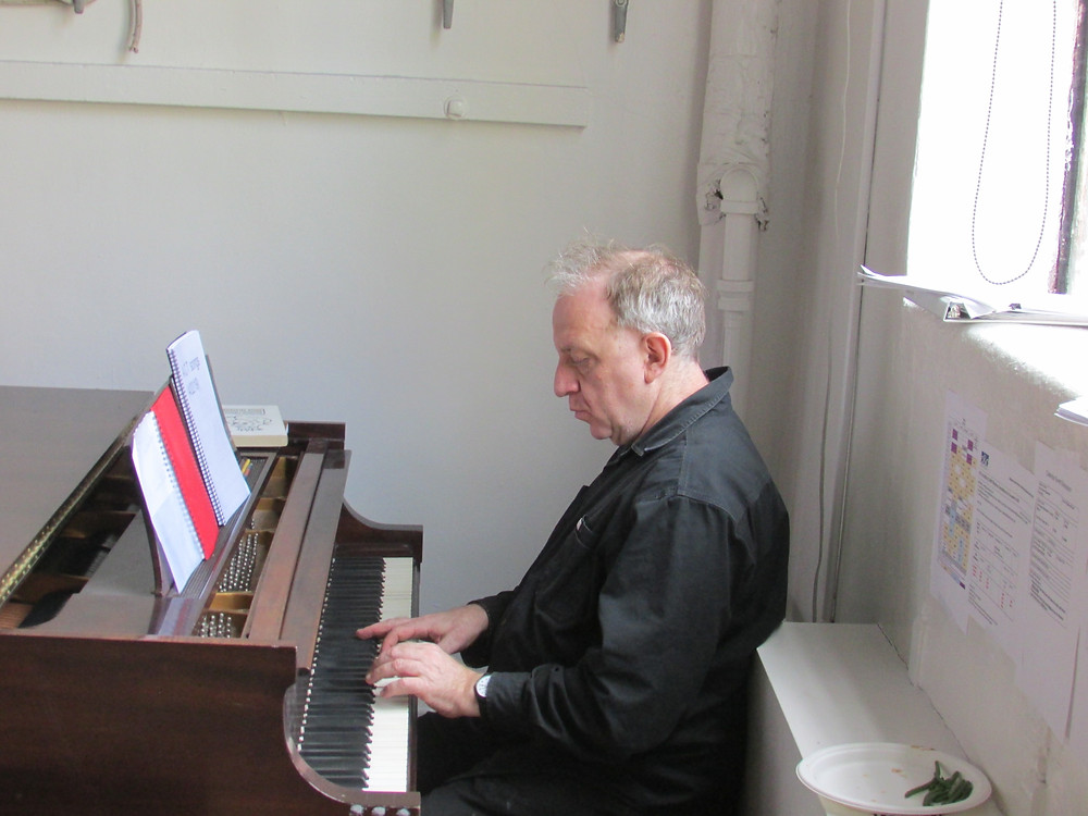 Rafi playing piano