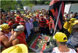 Families of Flamengo FC mourning the losses of youth academy players.