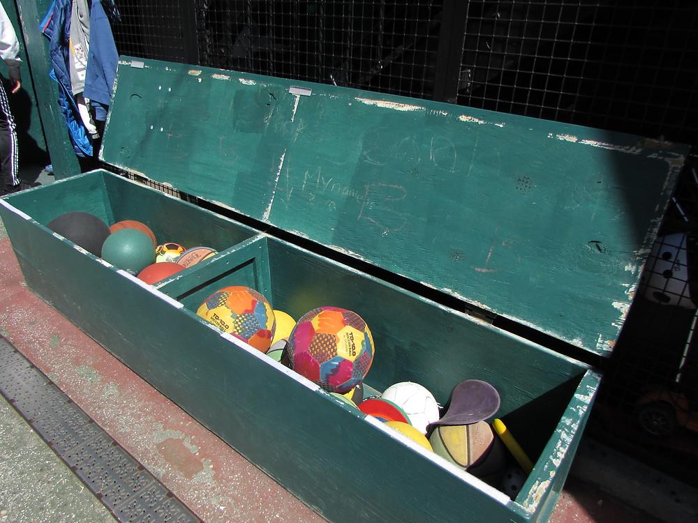 The ball box in the Ball Yard