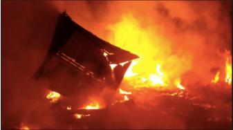 Flamengo Football Club's Youth Training Facility set aflame