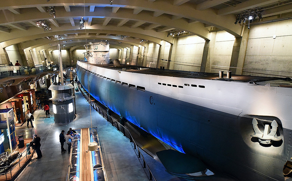 U505 Submarine in the Museum of Science and Industry
