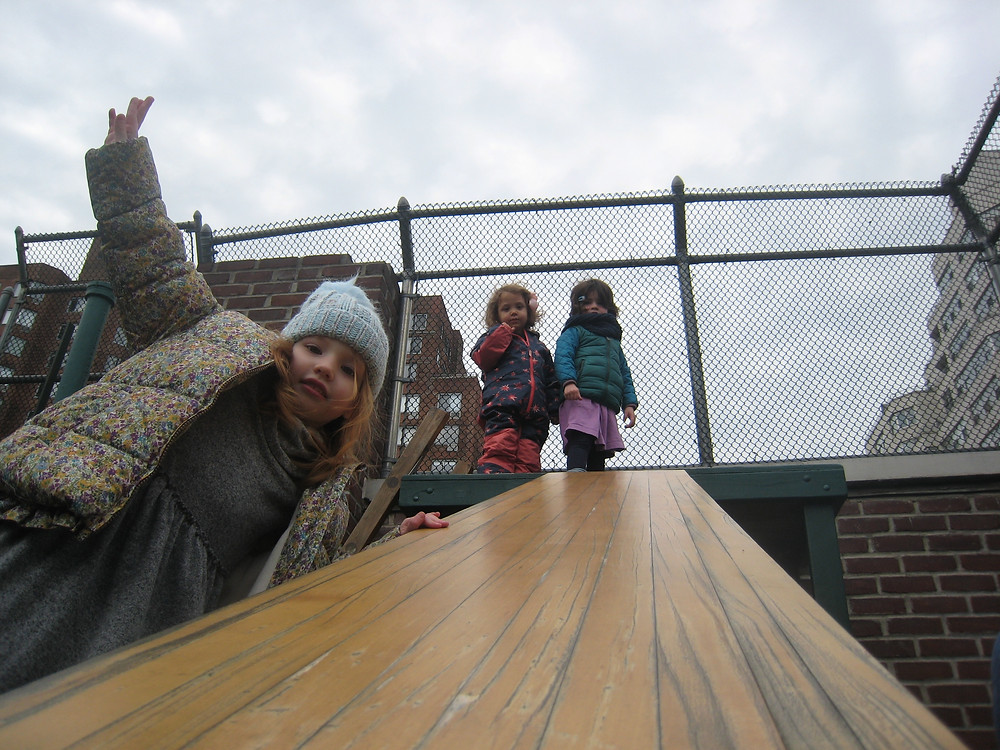 The IIIs on the roof yard