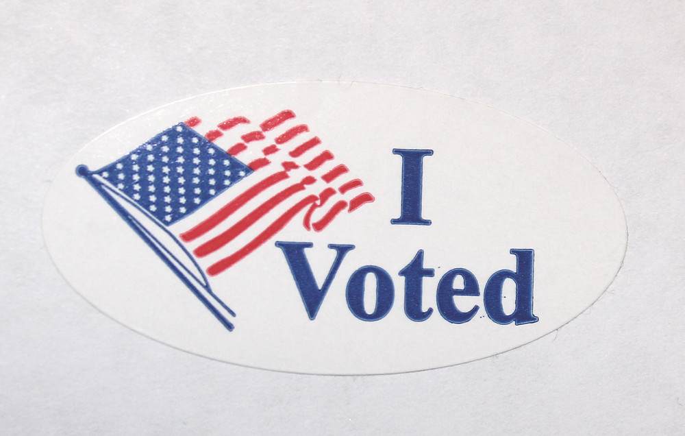 """An """"I Voted"""" sticker that was handed out all over the country"""