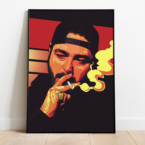 Post Malone Smoke (Unframed)