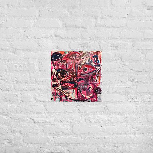 Pink Eye (18x18in)