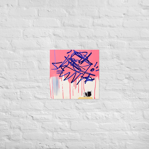 Pink/Blue 3 (18x18in)