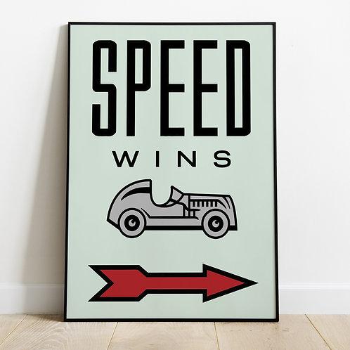 Speed Wins (Unframed)