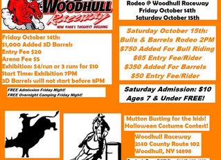 Woodhull Raceway Closes Out 2016 With Bulls & Barrels Rodeo