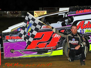 Bills Thrills In Modifieds; Daugherty Racing Hat Trick At Woodhull Raceway
