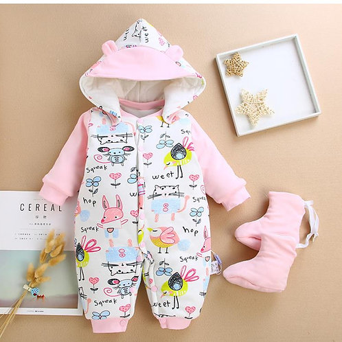 Baby Comfortable and Lovely Jumpsuit w/ Hood