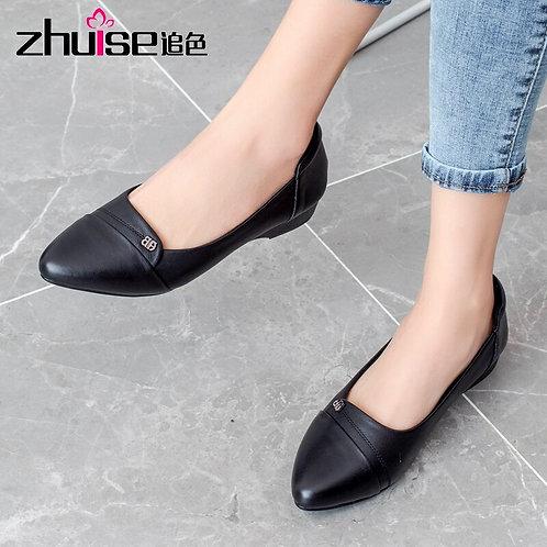 Genuine Leather Ballet Flats
