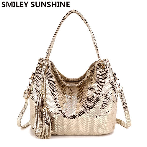 Tassel Leather Shoulder Bag