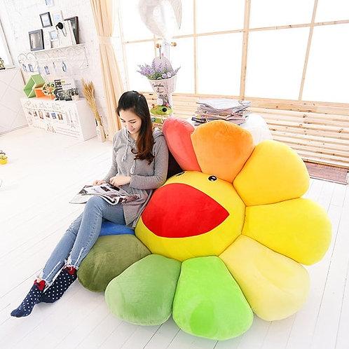 Big Plush Sun Flowers Floor Pillow