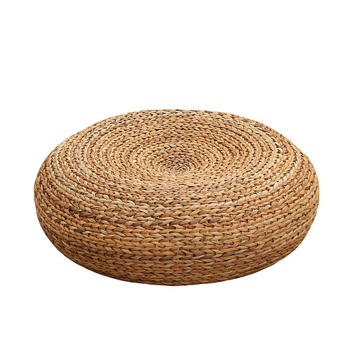 Handcrafted Eco-Friendly Breathable Padded Knitted Straw Floor Cushion