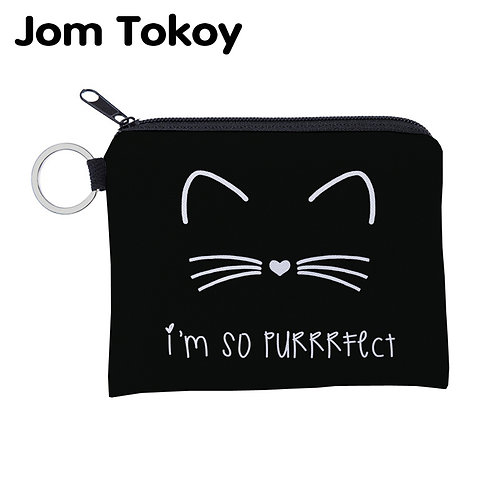 Cute Cat Waterproof Small Zipper Coin Purse