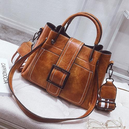 Vintage Vegan Leather Handbag