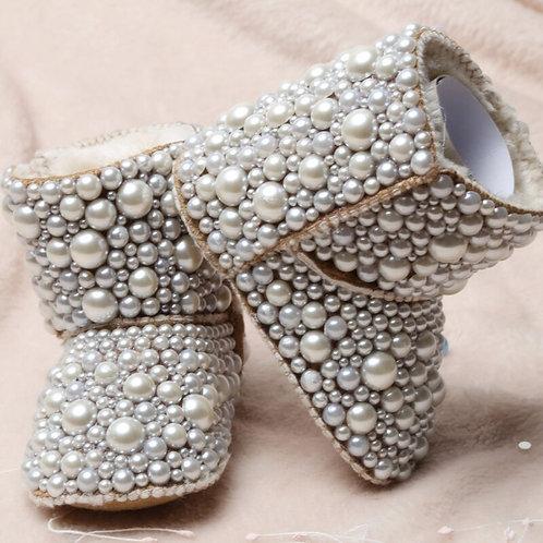 Soft Sole Pearl Magic Closure Antiskid Toddler Boots