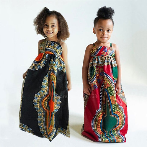 African Girls Dashiki Dress