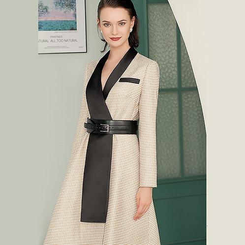 Long Sleeve Vintage  A-Line Dress