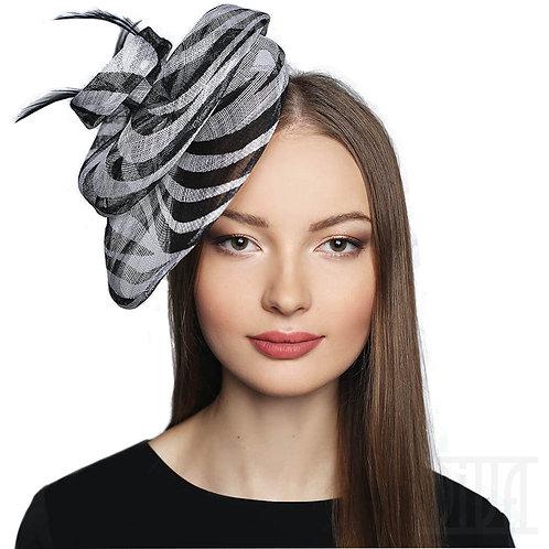 Stylish Black & White Pattern Fascinators Hat