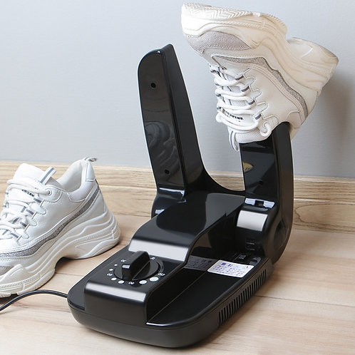 Folding Portable Electric Shoe Dryer in Black