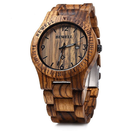 BEWELL Luxury Wooden Men's Watch