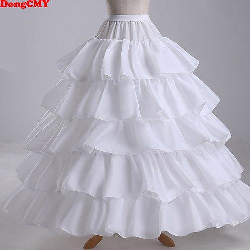Long 4 Hoops Crinoline Petticoat Underskirt for Wedding or Ball Gowns