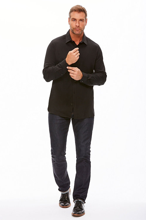 The Trotter Button Up  | Relaxed Fit | Obsidian