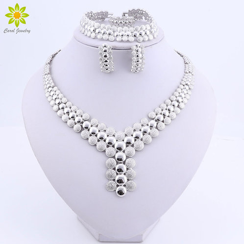 Silver Plated Necklace Sets