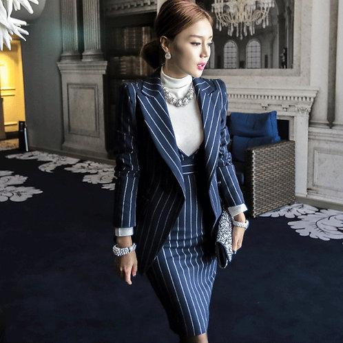 Striped Dress Suit