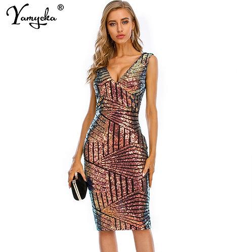 Vintage Sequins Dress