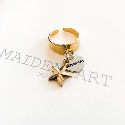 Star Ring in Gold. Stackable Rings. Star Jewelry, Charm Ring.