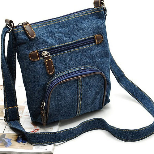 Denim Tote Crossbody