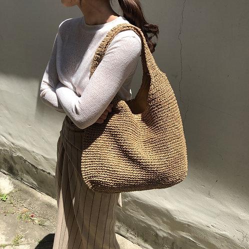 Rattan Large Capacity Shoulder Bag