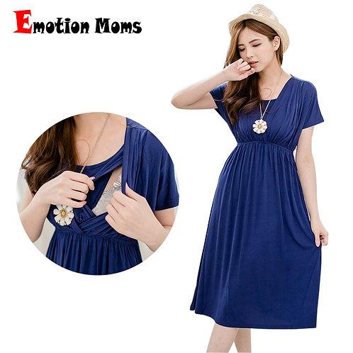 Soft Fabric Short Sleeve Maternity Dress
