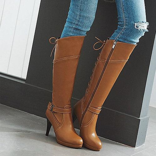 High Heels Knee High Boots