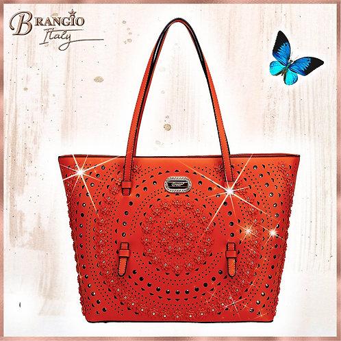 Rosè Celestial Star Tote Designer Handbags for Women Crystal Handbag