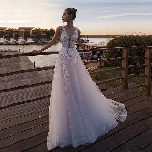 Light Pink or Ivy Princess  Sleeveless Wedding Dress
