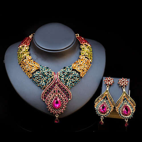 Water Drop Luxury Colorful Jewelry Set