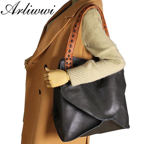 Genuine Leather Large Capacity  Multifunction Shoulder Bag