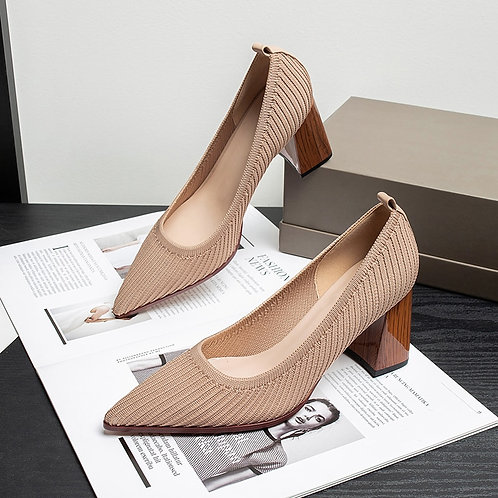 Mesh Breathable Shallow Pointed High-Heel Shoes