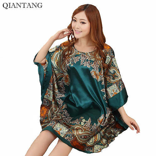 Faux Silk Dress or Top - One Size