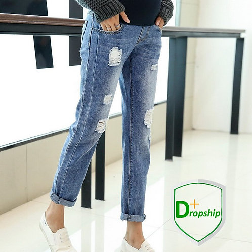 Maternity Jeans for  Casual with Holes