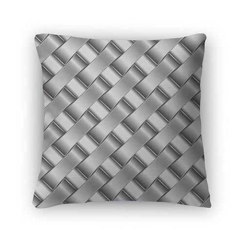 Throw Pillow, Silver Pattern