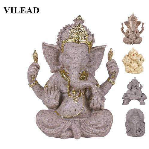 Sandstone Indian Ganesha Elephant Statue