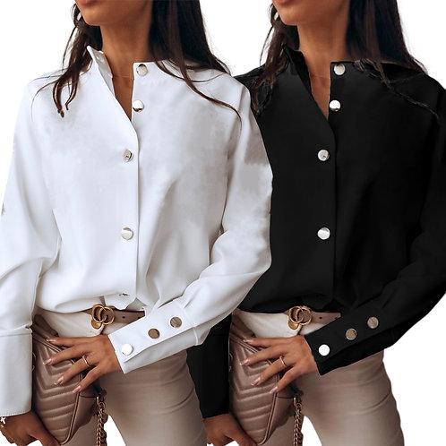 Elegant Long Sleeve Button Shirt