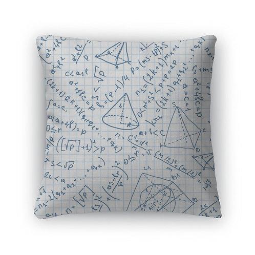 Throw Pillow, Maths Pattern